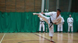 Sensei Ohta demonstrating at a regional training course